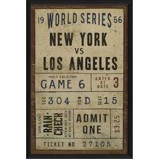 New York vs Los Angeles Ticket Framed Textual Art
