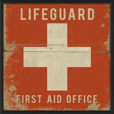 Lifeguard First Aid Office Framed Graphic Art