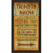 Tickets for the Show Framed Vintage Advertisement