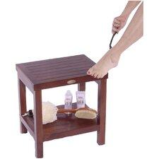 Classic Teak Spa Traditional Shower Stool