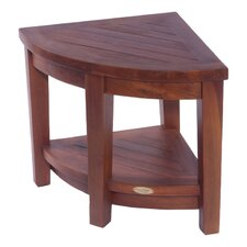 Classic Teak Corner Spa Shower Stool