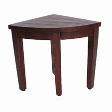 Oasis Teak Corner Shower Seat Stool Chair Bench