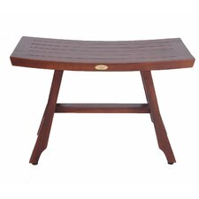 Sojourn Solid Teak Shower Bench with Adjustable Foot Pad