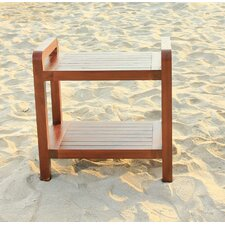 Outdoor Teak Bench Shelf / End Table