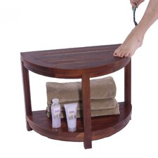 Classic Spa Half Moon Teak Shower Bench