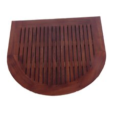 Classic Spa Oval Semicircle Teak Shower and Floor Mat