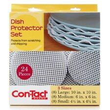 24 Piece Dish Protector Set