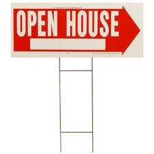 "10"" x 24"" Open House Sign"
