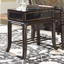 Island Traditions Buxton Penn Shell Box-on-Stand End Table