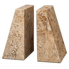 Fossil Stone Zeus Book Ends (Set of 2)