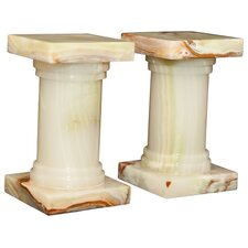 Light Green Onyx Platanus Book Ends (Set of 2)
