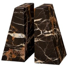 Black and Gold Zeus Book Ends (Set of 2)