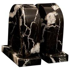 Black Zebra Marble Metis Book Ends (Set of 2)
