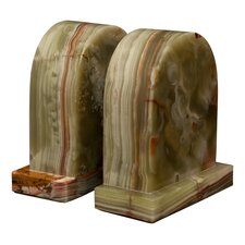Whirl Green Onyx Metis Book Ends (Set of 2)