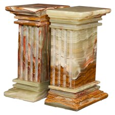 Whirl Green Onyx Renaissance Book Ends (Set of 2)