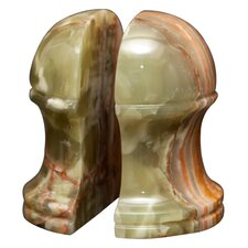 Whirl Green Onyx Hermes Book Ends (Set of 2)