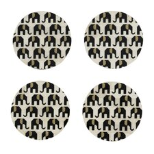Elephant Coaster (Set of 4)