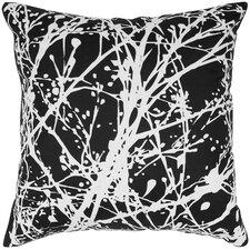 Print Splatter Silk Throw Pillow