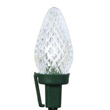 100 Light LED C7 Spool Christmas Light String Spool