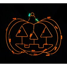 Battery Operated LED Pumpkin Halloween Window Silhouette Decoration