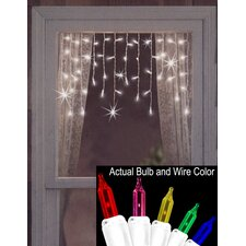 50 Twinkling and Shimmering Window Curtain Icicle Light String