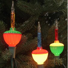 7 Light Retro Christmas Bubble Light String