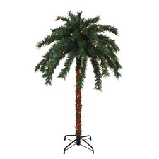 6' Green Palm Christmas Tree with 140 Clear Lights and Stand