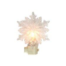 Snowy Winter Decorative Double Snowflake Christmas Night Light