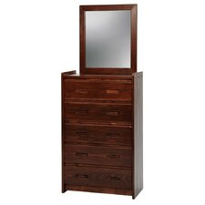 5 Drawer Standard Chest with Mirror