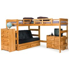 L-Shaped Bunk Bed Customizable Bedroom Set