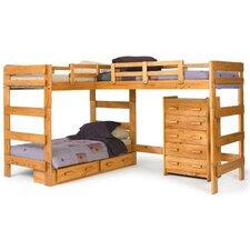 Twin L-Shaped Bunk Bed Customizable Bedroom Set