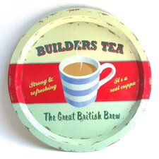 Coffee Break Builder's Tea Tin Tray
