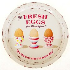 Coffee Break Fresh Eggs Tin Tray