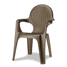 Intrecciata Stacking Dining Arm Chair