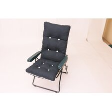 Capri Single Piped Reclining Arm Chair with Cushions