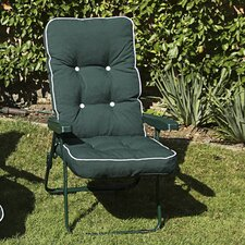 Milan Boxed and Piped Reclining Arm Chair with Cushions