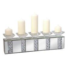 Kerzenleuchter Rhombus Glass aus Glas und Metall