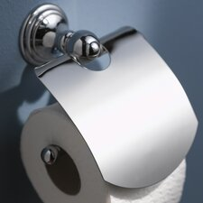 Allure Toilet Wall Mounted Roll Holder in Chrome with Lid