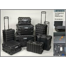 """ATA Style Foam-Filled, Reusable Indestructo Shipping Case 18"""" H x 15"""" W x 13"""" D"""