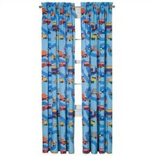 Boys Like Trucks Cotton Rod Pocket Curtain Panels (Set of 2)