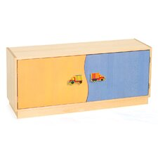 "Boys Like Trucks 2-Door 20"" Book Cabinet"