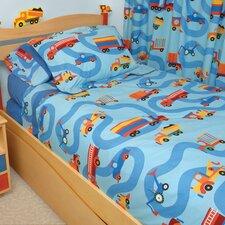 Boys Like Trucks Twin Comforter / Bedskirt / Sham Set