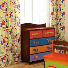 Zoo 4 U Cotton Rod Pocket Curtain Panels (Set of 2)