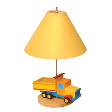 "Boys Like Trucks 18"" H Table Lamp with Empire Shade"