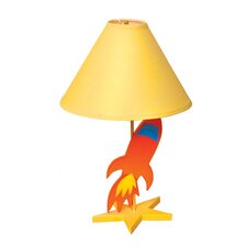 """Star Rocket 18"""" H Table Lamp with Empire Shade"""