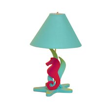 "Tropical Seas Seahorse 18"" H Table Lamp with Empire Shade"