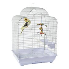 Brasilia Bird Cage in White