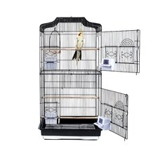 St Luicia Bird Cage in Black