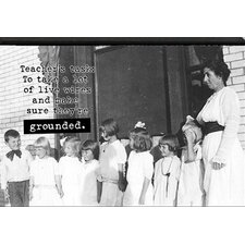 Teacher's Task by Tonya Photographic Print on Plaque in Black and White