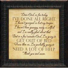 'Dear God' by Tonya Framed Textual Art